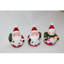 Wohnkultur Keramik Weihnachtsporzellan mit Licht