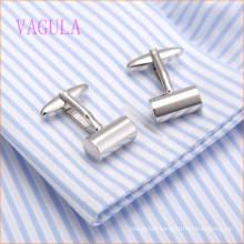 VAGULA Fashion New Design Silver Plated Cylinder Gemelos Copper Cufflinks