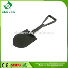Carbon steel green folding snow shovel with saw