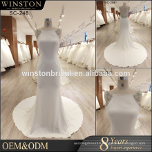 Fashion round Neckline wedding dress mermaid 2017 elegant bridal gown