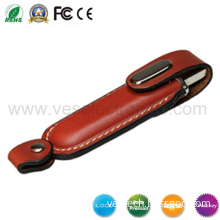 Hot Computer Accessories USB Stick Customized Logo Leather Flash Memory