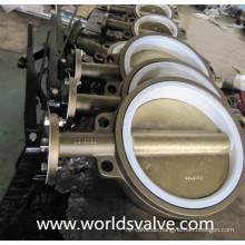 Aluminium-Bronze-Wafer-Absperrklappe mit PTFE-Sitz