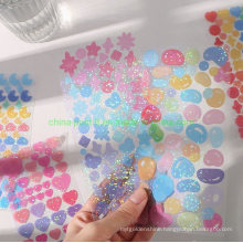PVC Shiny Colorful Decorating Stickers