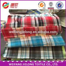 fil teint coton chemise en polyester textile tissu tissu de vêtement pour la chemise 100% coton teints tissu Popeline à carreaux