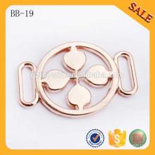 BB19 Custom design ouro metal vestuário cinto fivela