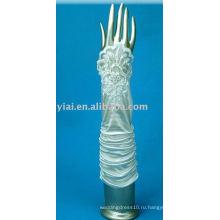 Локоть 2013 Кружева Свадебные Перчатки Без Пальцев 008