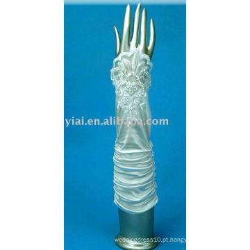 Luva de noiva de renda de cotovelo 2013 sem dedos 008