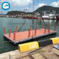 Wood plastic composite decking aluminum floating pontoon bridge