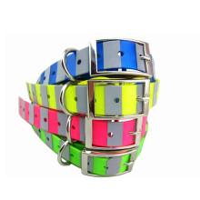 Plastic Coated Webbing Reflective Dog Collar (HST11392)