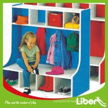 Holzmöbel, moderne Schule Holz Kinder Spielzeug Aufbewahrungsschrank LE.OT.058