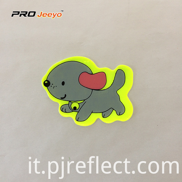 Reflective Adhesive Pvc Dog Shape Stickers For Children Rs Dw002