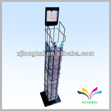 Sturdy 2 pockets retail store wire magazine accessories display rack