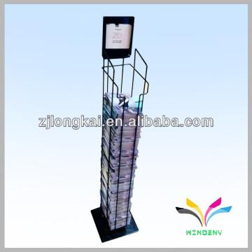 Sturdy 2 pockets retail store wire magazine accessories display rack