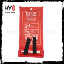 Couvertures de feu de fabrication dans un sac rouge, prix chaud de couverture de feu de vente pour la protection contre l'incendie, couverture anti-feu de feu