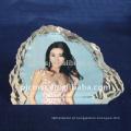 Quadro de foto de cristal agradável transparente para decoração de casamento