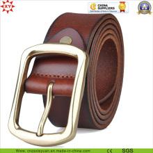 Boucle de ceinture en cuir véritable de haute qualité