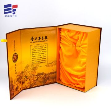 Magnetic closure paper cardboard empty wine box