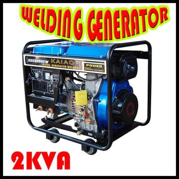 Générateur de soudage diesel à cadre ouvert (KDE6500EW)