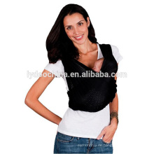 100% natürliche Baumwolle Baby Carrier Wrap mit Mode rein schwarz