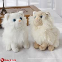 EN71 y ASTM estándar blanco peluche caminar juguete de gato