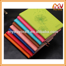 2016 Korean business thin leather notebook,custom pu notebook with bookmarks