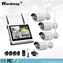 "4CH 1.3 / 2.0MP Wifi NVR Kit dengan 12 ""Monitor"