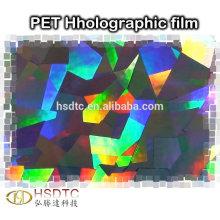 PET Metallisierter Holographischer Film Hochwertiger farbiger Laserfilm