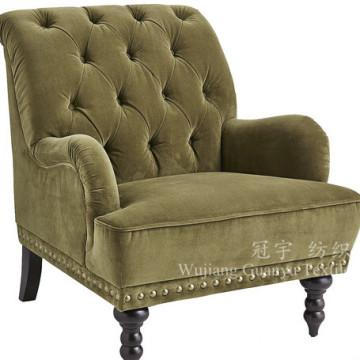 Tela súper suave del paño grueso y suave del terciopelo de la pila corta para el sofá