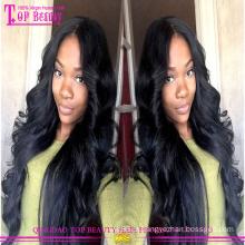 Wholesale glueless mulheres negras cabelo brasileiro peruca cheia do laço
