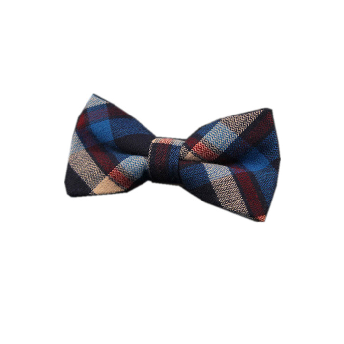 Cotton Bow Tie Blue