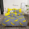 Printed Polyester Duvet Cover Bedsheet Bedding Set