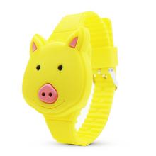 Wholesale Promotion Cartoon Children's Clamshell Design Silicone Animal Shape Student Digital Led Wrist Watch