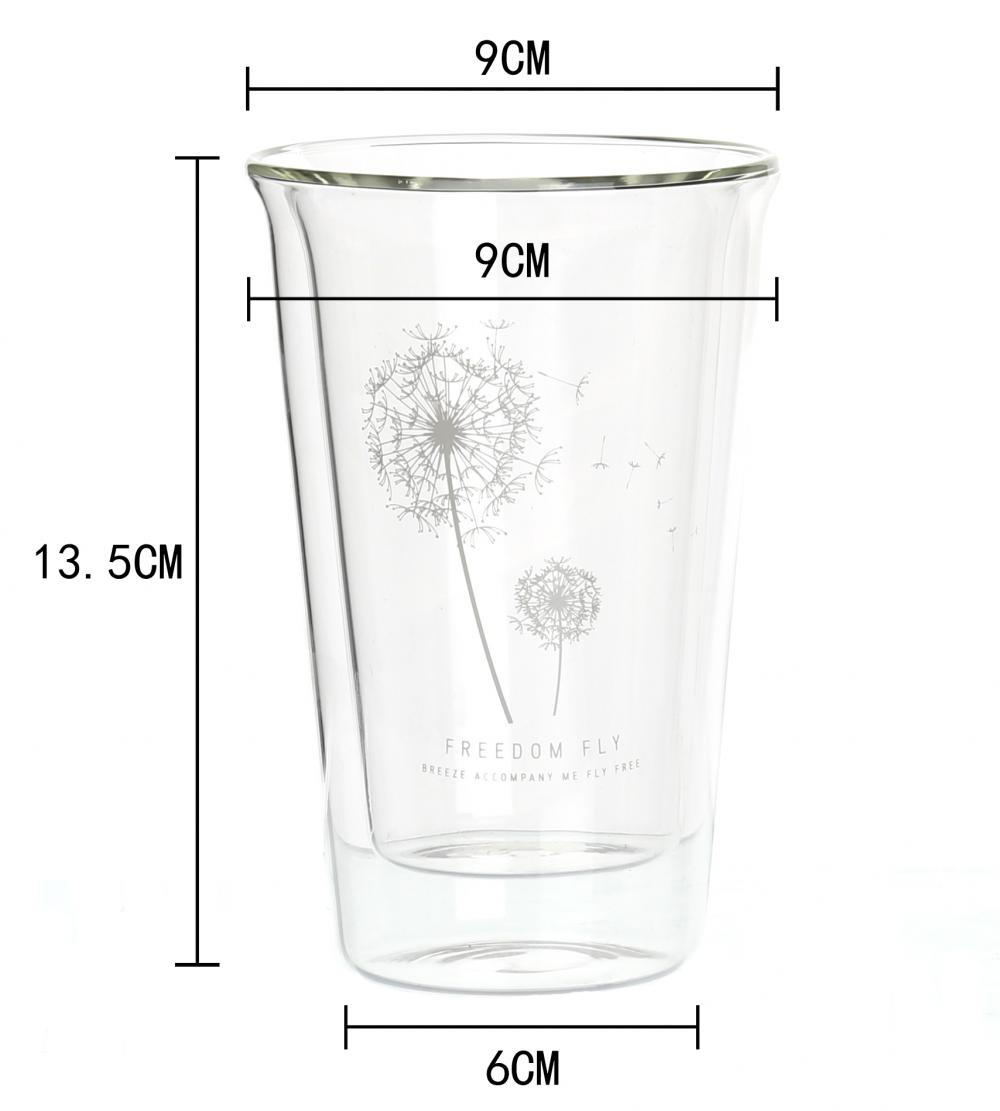 320ml Double Wall Glass Cup