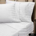 Fábrica Atacado 100% Algodão Natural listra Branca Hotel king size roupa de cama