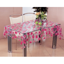PVC Printed Design Transparent Tablecloth Oilproof, Waterproof Feature