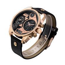 Relógio Rosegold Multifuncional Duplo Movimento Rosa Ouro