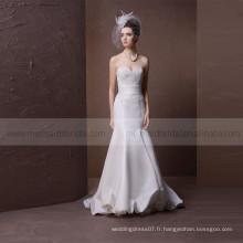Robe de mariée en satin satin sexy