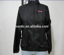 Wholesale Santic Hign Quality Women Foldable Cycling Skin Jacket
