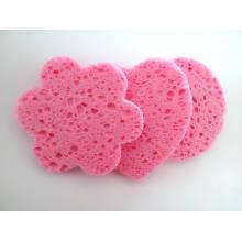 Commerce de gros de pâte de bois naturelle éponge de cellulose maquillage éponge faciale enlever l'éponge