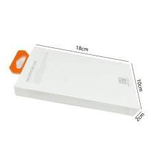 Caixa de embalagem de capa de telefone de plástico transparente personalizado