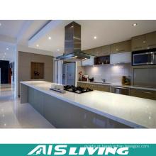 Mobília de armário de cozinha de porta UV com ilha de mesa longa (AIS-K188)