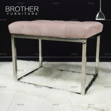 Modern design ottoman living room fabric leather bench dressing room bench