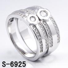 Fashion White 925 Silver Wedding Ring (S-6925. JPG)