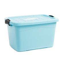 Caja de almacenamiento de plástico colorido con mango para almacenamiento (SLSN001)