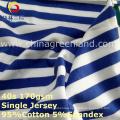 Cotton Spandex Stripe Yarn Dyed Jersey Fabric for T-Shirt Garment Textile (GLLML268)