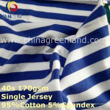 Algodão Spandex Stripe Fios Tingidos Jersey Tecido para Têxtil Vestuário Têxtil (GLLML268)
