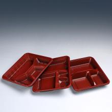 Bandeja para comida para llevar plástica del nuevo estilo PP / Pet Bento de la caja con la tapa