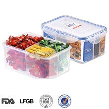 Recipiente de alimento plástico hermético com divisor