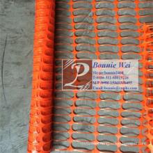 Orange barrier fence plastic mesh