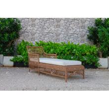 Einfache Design Poly Synthetische Harz Rattan Sun Lounger Für Outdoor Garden Beach und Resort